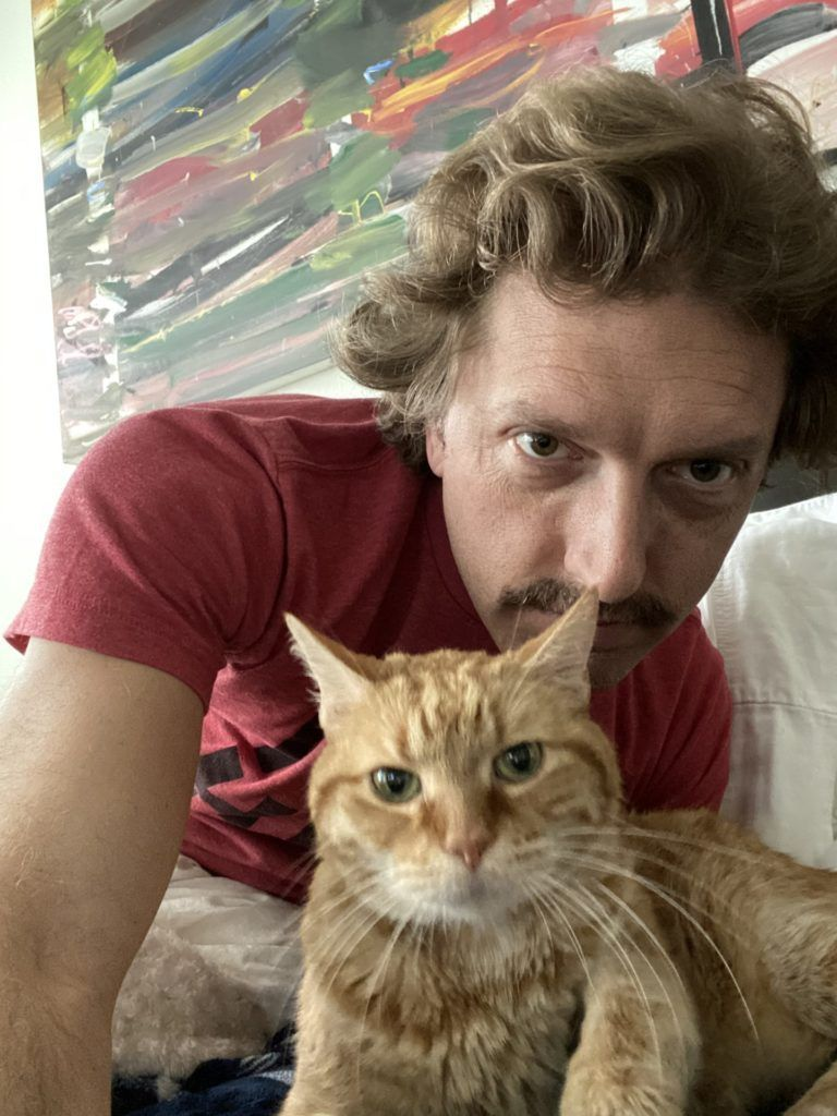 Ryan with his cat